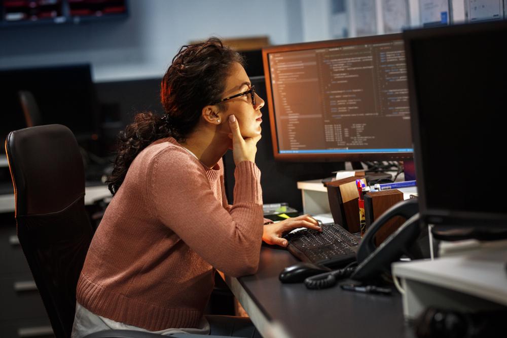 Female Coder Programming