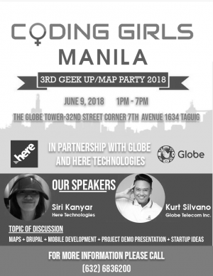 Coding Girls Manila 3rd Geek Up/ Map Party 2018